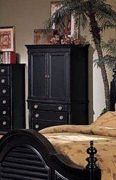 "Heritage Collection Traditional Style Black Finish TV Armoire Dimension: 45""W 22""D 72""H Finish: Black Material: Wood Black Finish TV Armoire from the Heritage Collection Matching bed, chest, mirror, nightstand and dresser are sold separately. ShopExpress- ENTERPRISE WP Site... more details available at https://furniture.bestselleroutlets.com/game-recreation-room-furniture/tv-media-furniture/entertainment-armoires/product-review-for-heritage-collection-tradition"