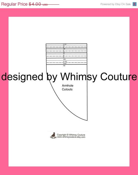 armhole template for pillowcase dress - whimsy couture pillowcase or peasant armhole cutout