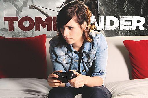 Nora Tschirner ist die deutsche Lara Croft / Kinostar leiht im neuen Tomb Raider der legendären Spiele-Ikone ihre Stimme | Fotograf: obs/Square Enix | Credit:obs/Square Enix | Mehr Informationen und Bilddownload in voller Auflösung: http://www.ots.at/presseaussendung/OBS_20130117_OBS0004