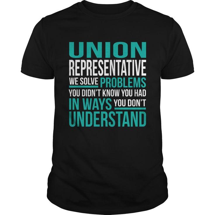 UNION REPRESENTATIVE T-Shirts, Hoodies. ADD TO CART ==► https://www.sunfrog.com/LifeStyle/UNION-REPRESENTATIVE-134062579-Black-Guys.html?id=41382