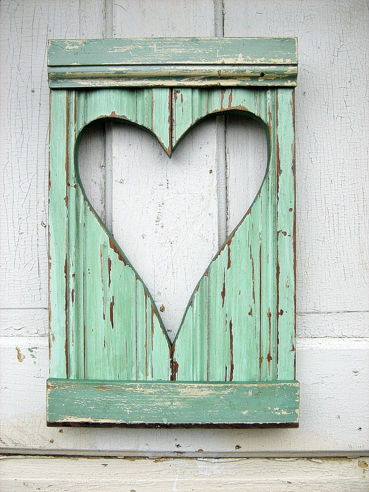 Reclaimed wood heart.