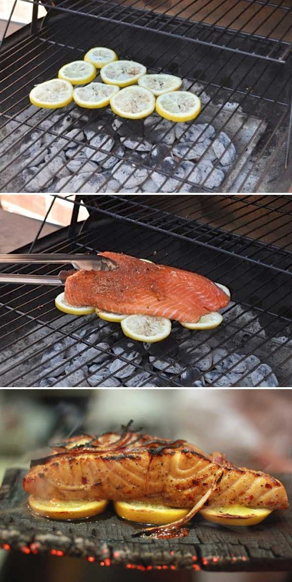 Clever way to grill a fish in one piece, and give it a light, citrus flavor.