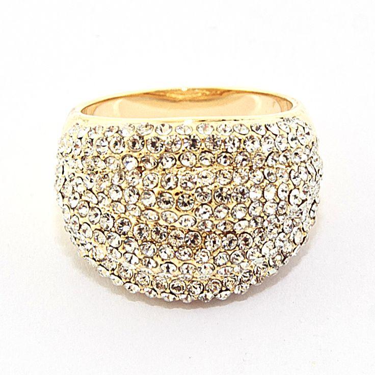 """Кольцо """"Сияние"""", бижутерный сплав, кристаллы, размеры 16-19, цена 200 грн, beauty-mix.com.ua"""