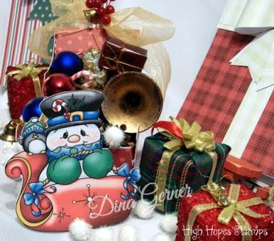 """High Hopes Stamps: Merry Christmas by DIna using """"Sleigh Ride"""" (SS004)"""