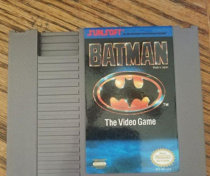 Batman The Video Game (Nintendo Entertainment System 1985) NES Cartridge