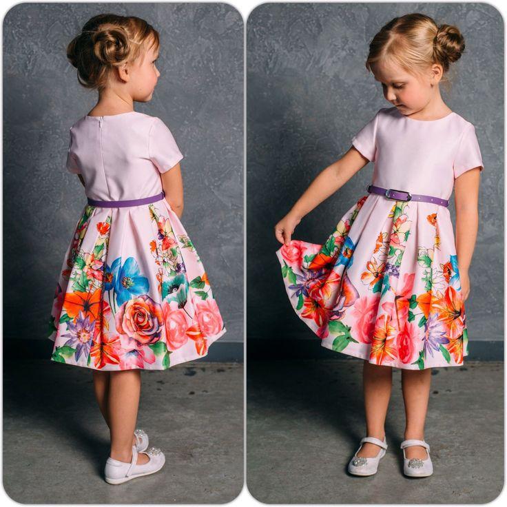 """Платье в цветок для девочек """"Лилия"""", платье с цветами, яркое нарядное"""