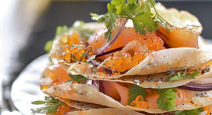 Mille feuille saumon - recette entrée Noel - Gourmand