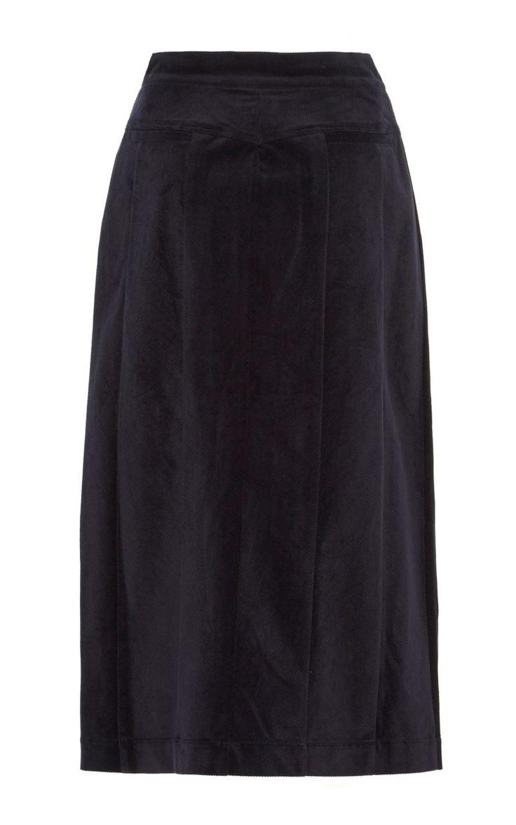 Acler - Aberdeen Cord Skirt Navy