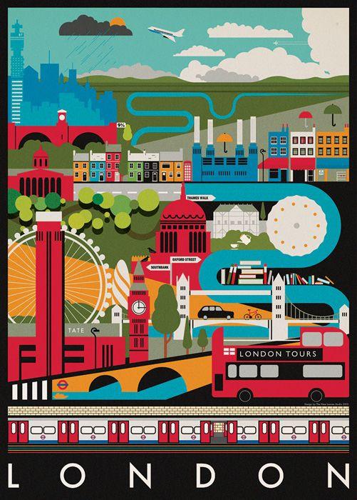 London by Mike Lemanski / #graphic #design #illustration