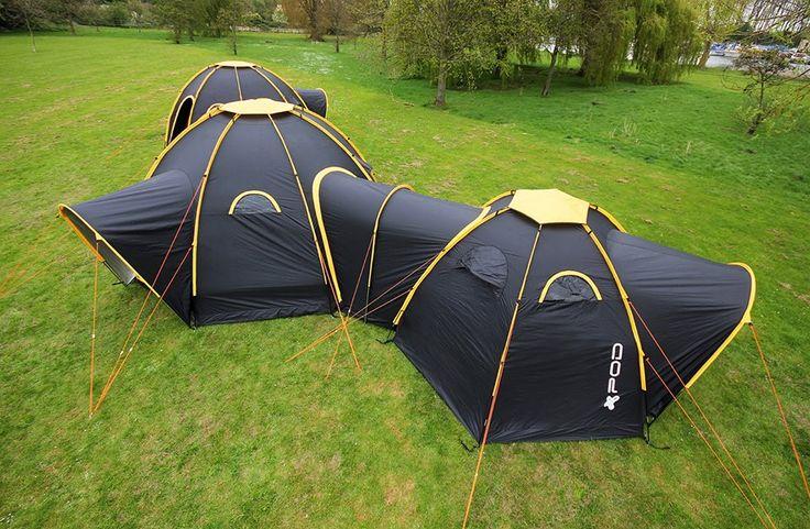 Découvrez la Pod Tents : la toile de tente conviviale qui rapproche toute la famille ou les amis ! Une tente originale, sociale et modulable à découvrir sur le blog de Raviday.