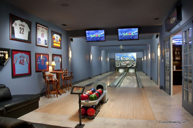Home bowling alley some day some day interior for House plans with bowling alley