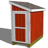 4 8 lawn mower garden shed plans to make wood for Garden shed for lawn mower
