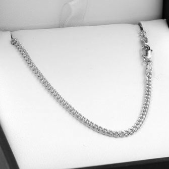 70cm Sterling Silver Round Curb Chain Necklace - SN-C60
