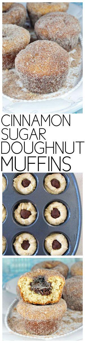 Cinnamon Sugar Doughnut Muffins #muffins #doughnuts #brunch