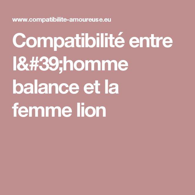 Compatibilité entre l'homme balance et la femme lion