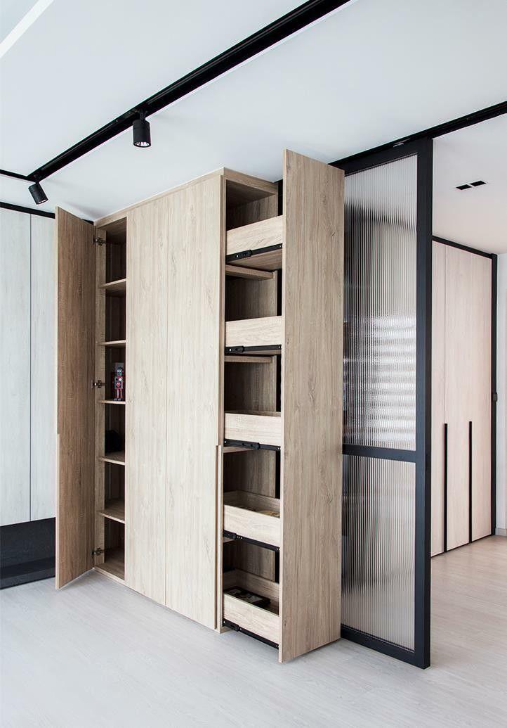 Cupboards Around Bomb Shelter Open Home Condo Interior Secret Rooms