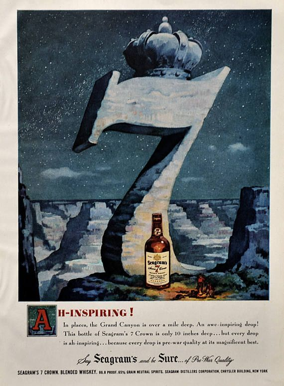 1949 Seagram's 7 Crown Ad | #RetroReveries