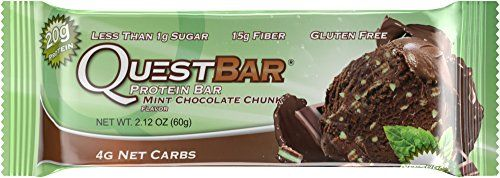 Quest Nutrition Protein Bar Mint Chocolate Chunk 20g Protein 2.12oz Bar 12 Count