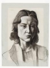 """""""Portret Estelle Reed (Portrait Estelle Reed)"""", 1937 / Carel Willink (1900-1983) / Rijksmuseum Twenthe, Enschede, The Netherlands"""