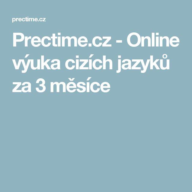 Prectime.cz - Online výuka cizích jazyků za 3 měsíce