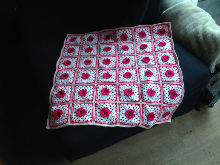 Baby blanket crochet | My first made blanket for Roos.