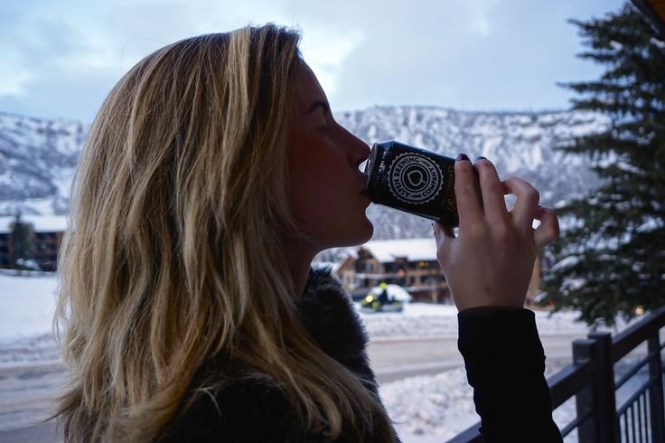 Caroline, of the blog Rompworthy, drinking in the view with This Season's Blonde.