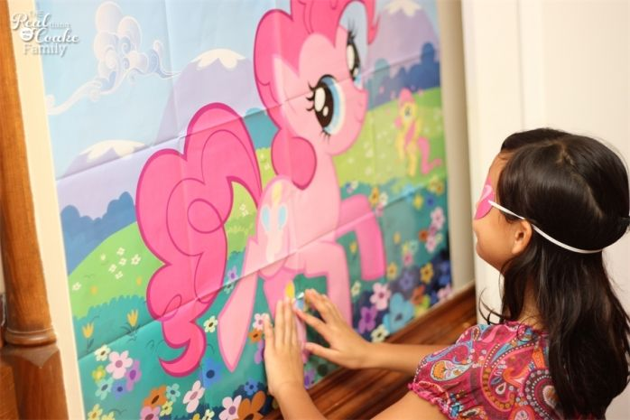 Pin the cutie mark on the pony