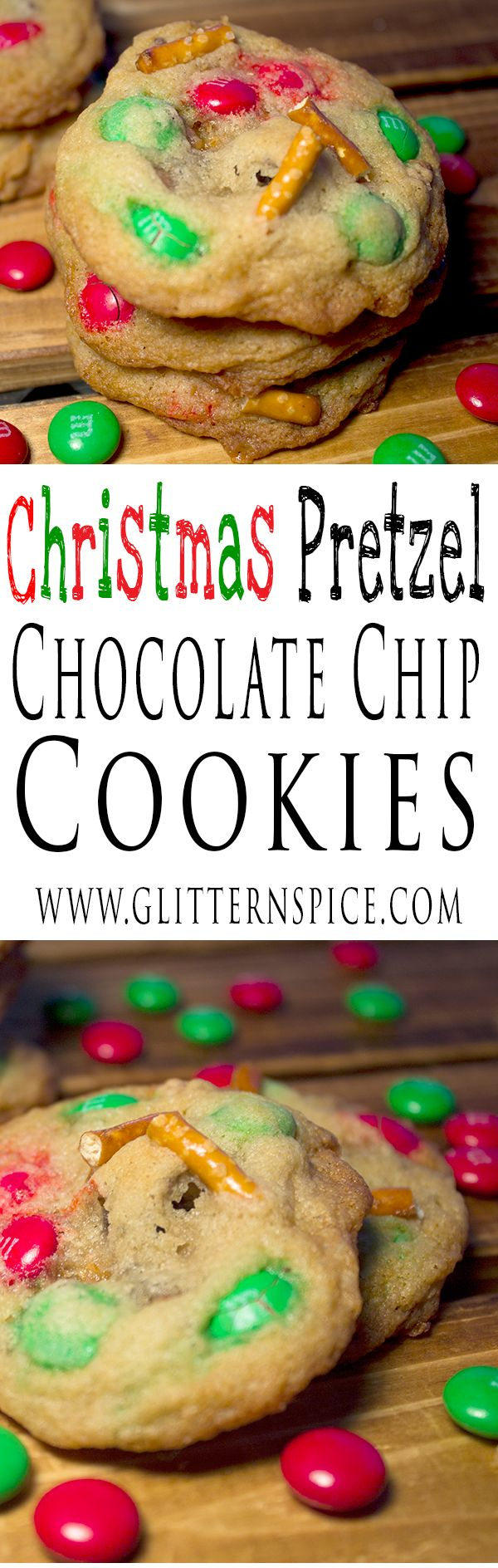 Christmas Pretzel Chocolate Chip Cookies Recipe