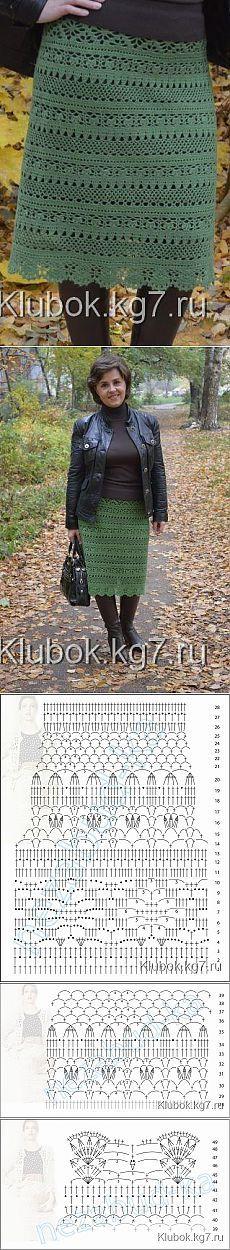 Юбка, связанная Мариной Авдеевой | Клубок