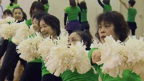 Japan's Senior Cheerleaders- video
