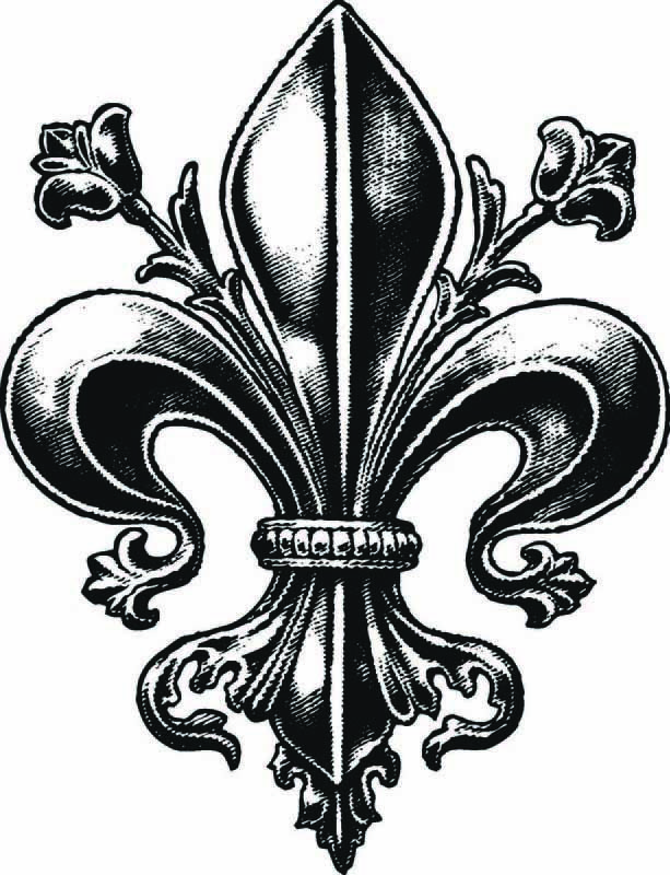 Nice Fleur De Lis Tattoo Sample                                                                                                                                                                                 More