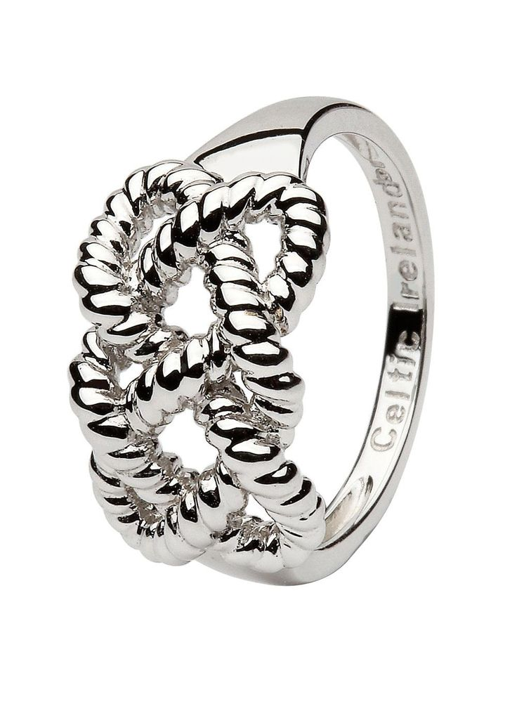 Sterling Silver Fisherman Knot Ring: Many believe the fishermanknot is the ultimate symbol of eternal love. The fisherman knot is used in weddings to symbolize the coming together of two families with each cord representing a family. Both pasts are tied together to continue as one future together. #FishermansKnit #Knot #Ring#Jewelry#CelticJewelry#SilverJewelry#Silver#SilverRing#Irish#celtic