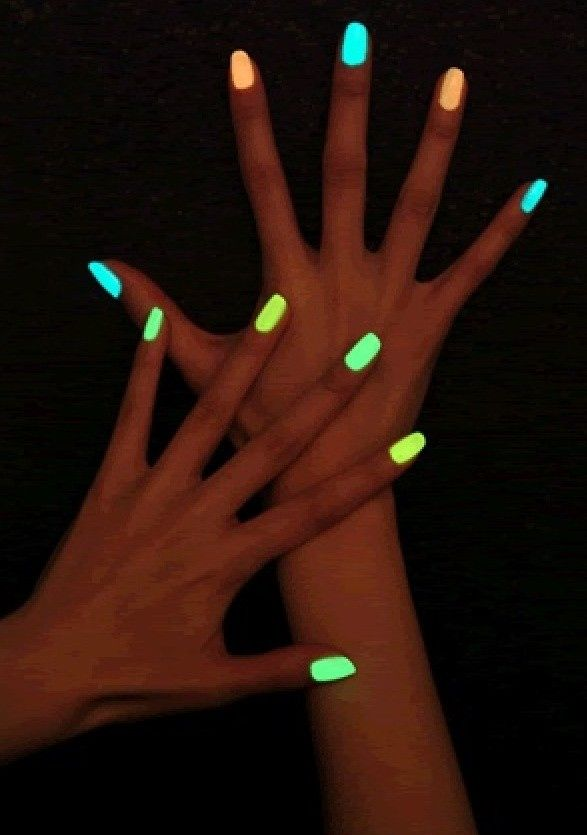 Glow in the dark nail polish! Break open a glow stick and add liquid to a bottle of clear nail polish!