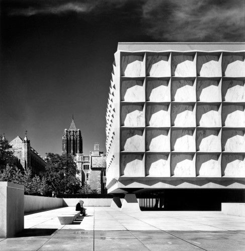 Beinecke Rare Book and Manuscript Library designed by Gordon Bunshaft
