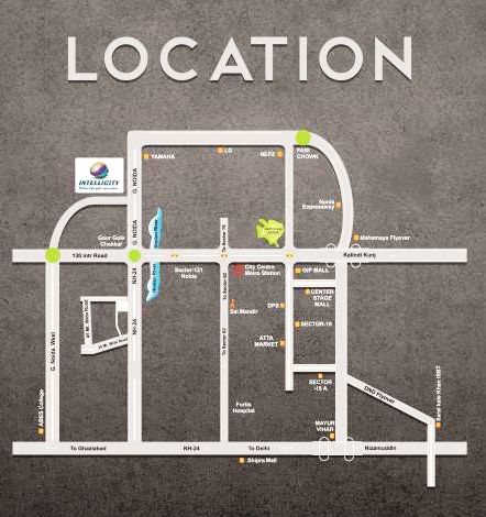 Location Map for Airwil Intellicity in Noida Extension http://www.airwil-intellicity.net