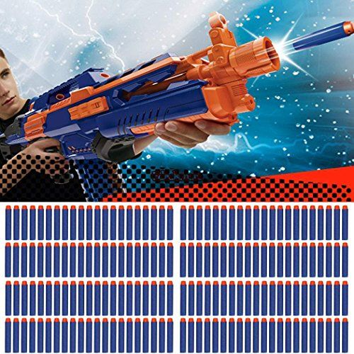 LeaningTech 100-Dart Refill Foam Bullet Pack for Nerf N-strike Elite Soft Sponge Plastic Material  @ niftywarehouse.com #NiftyWarehouse #Zombie #Horror #Zombies #Halloween