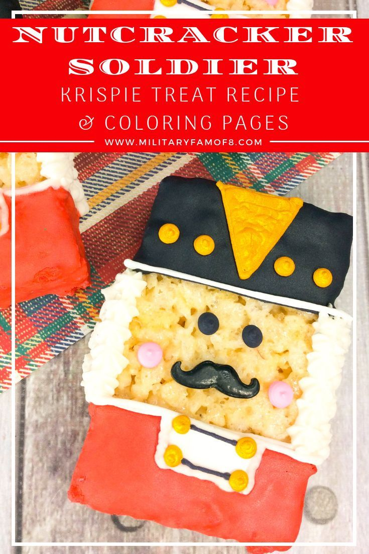 Nutcracker soldier rice krispie treat recipe u coloring page