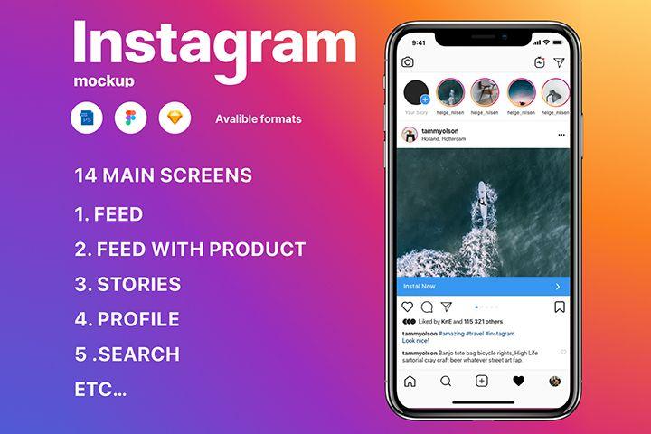 Free Free Instagram Mockup 2020 Instagram Mockup Free Instagram Iphone Instagram