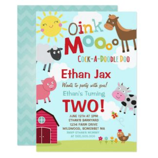 Image result for old macdonald birthday invitations