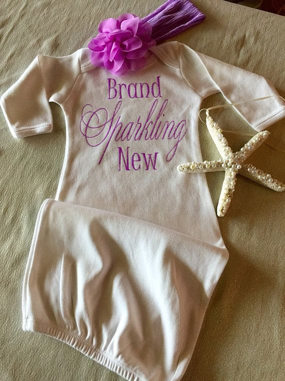 online fashion Infant Girl Gown Newborn Girl Take Home by KeepsakeKonnections