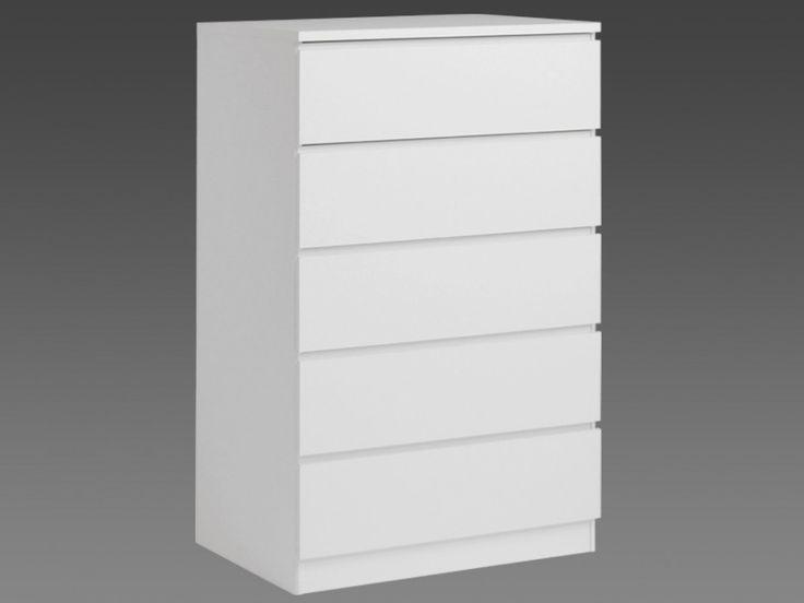 Kommode Armance - 5 Schubladen - Weiß | Büro | Pinterest | Kommode ...
