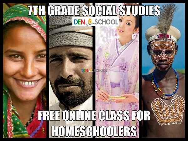 Seventh Grade Online Social Studies Homeschooling Class