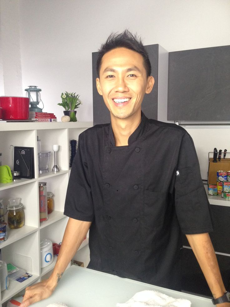 Chef Julius Tan in our kitchen today!
