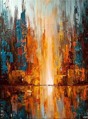 Abstract   City PaintingPainting ArtEasy. 2246 best Art images on Pinterest   Canvas paintings  Fall
