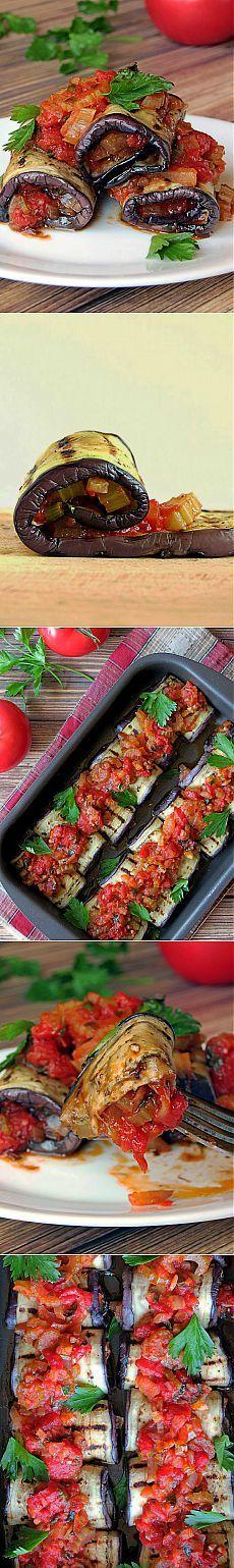 InVkus: Роллатини: баклажаны начиненные овощами.  Итальянская кухня необычайно вкусная. Овощи - бесспорный хит, идеально подходящий летнему сезону. Аппетитные рулеты из баклажанов, начиненные овощами и запеченные в духовке с ароматной зеленью. Сочное блюдо с минимумом калорий, не требующие больших кулинарных навыков.