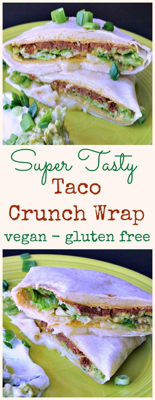 Taco Crunch Wrap @spabettie #vegan #airfryer #glutenfree