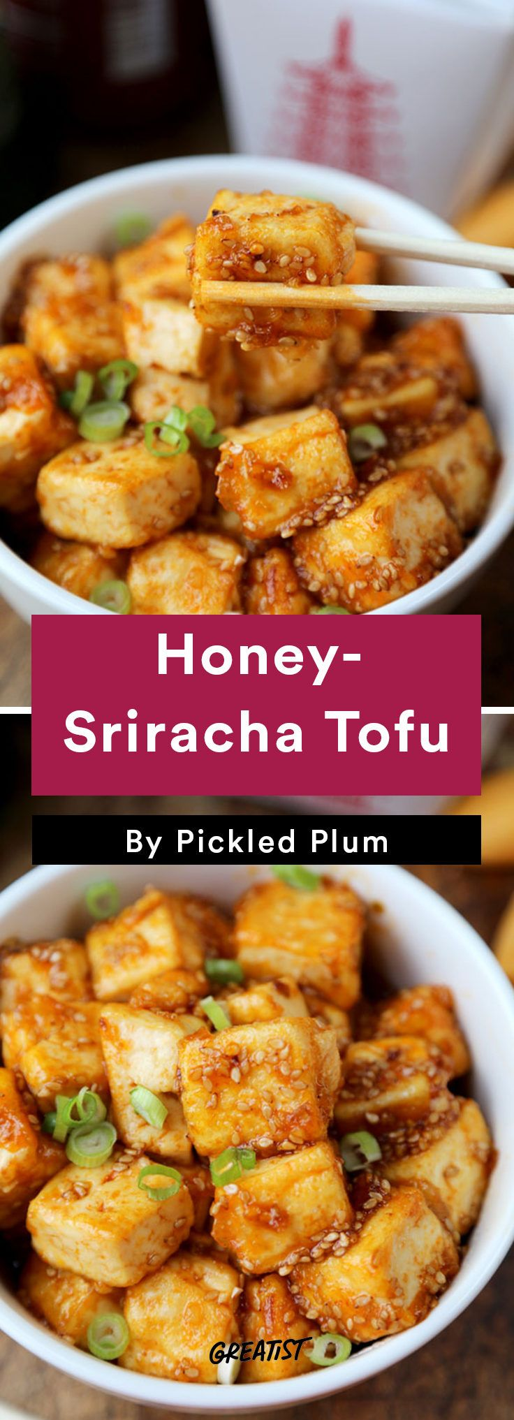 8. Honey-Sriracha Tofu #greatist http://greatist.com/eat/easy-stir-fry-recipes-to-make-during-the-week