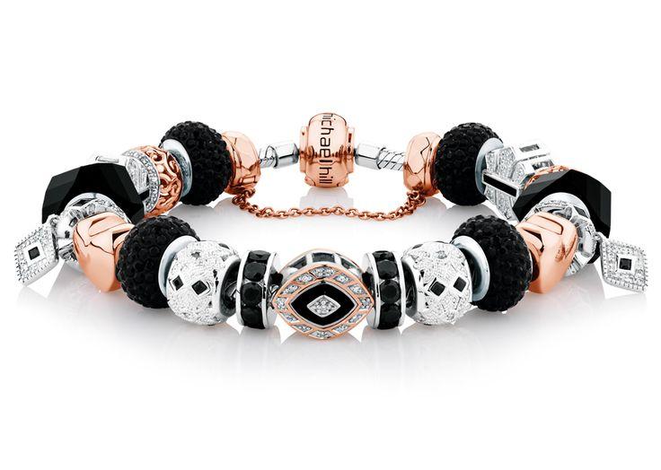 10ct rose gold & sterling silver Art Deco bracelet. #emmaandroe
