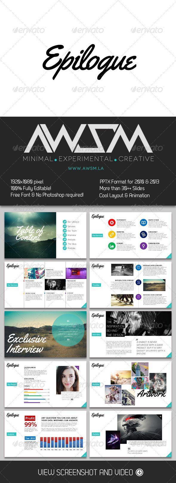 GraphicRiver Epilogue PowerPoint Presentation 6581042
