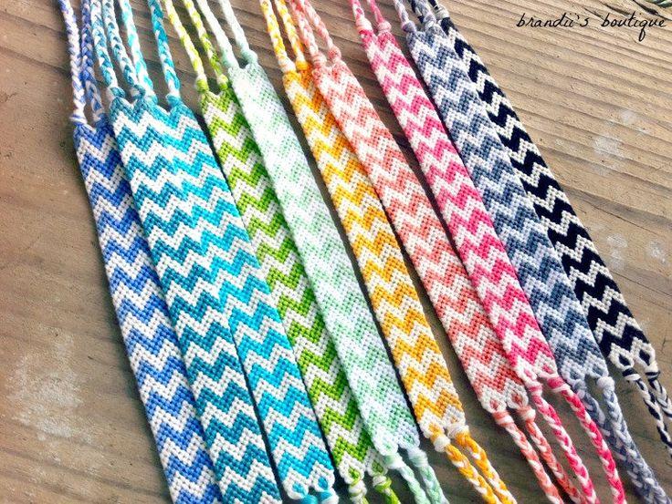 Rainbow Double Chevron Friendship Bracelets by BrandiisBoutique